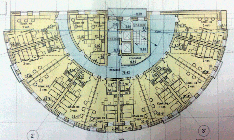 Круглые квартиры планировка